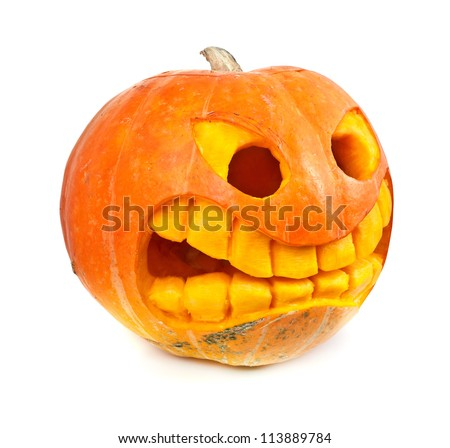 Halloween pumpkin isolated on a white background