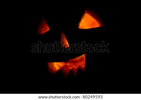 Halloween pumpkin  - isolated on black