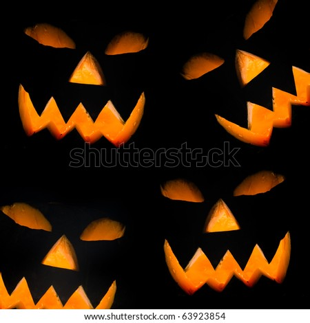 Halloween pumpkin, isolated on black background