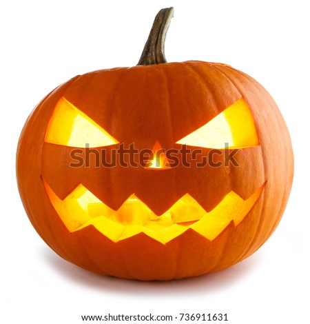 Halloween Pumpkin isolated on white background #736911631