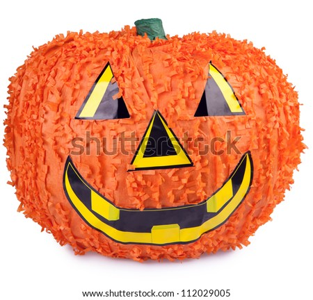 Halloween pumpkin made from paper mache