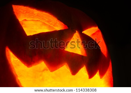 Halloween pumpkin on dark background