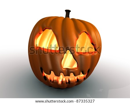 Halloween Pumpkin ready to scare someone