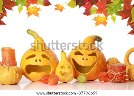 funny pumpkin faces. pumpkins with funny faces