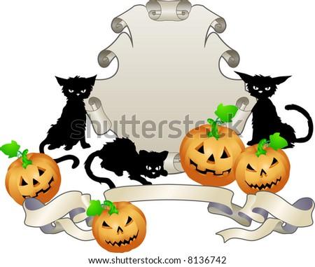 Halloween shield . An illustration of a Halloween themed shield - stock photo