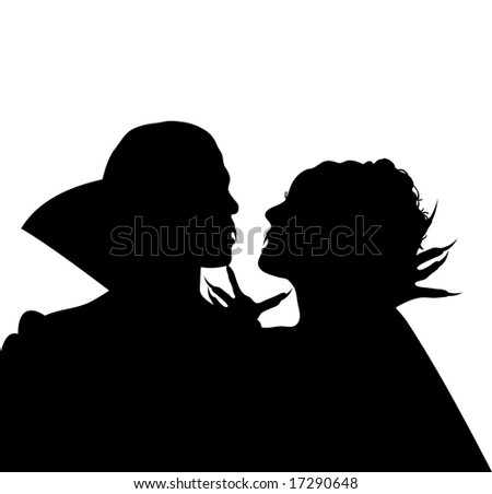 Vampire Profile Silhouette Royalty-free Silhouett...