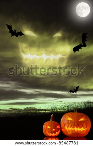 Halloween spooky background with free space for text