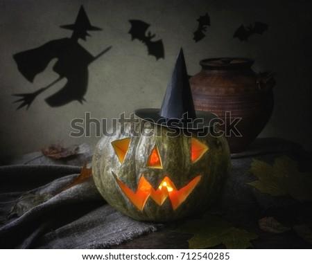 Halloween still life #712540285