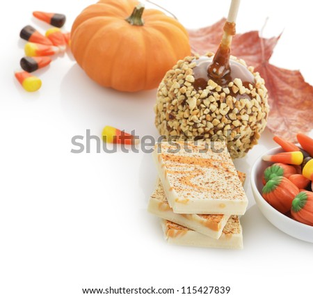 Halloween Treats On White Background