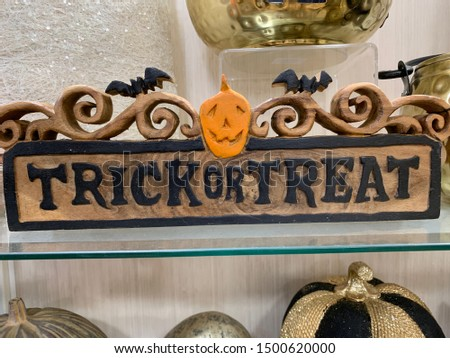 Halloween trick or treat sign #1500620000
