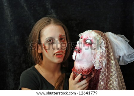 Halloween Vampires - stock photo