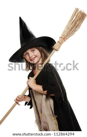 halloween witch mask on white background