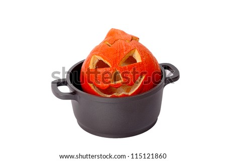 Halloween witches cauldron.