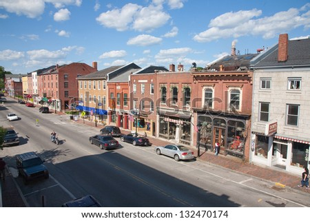 HALLOWELL, ME - JUNE 09: Storefront in Water Street on June 09, 2012 in Hallowell, Maine
