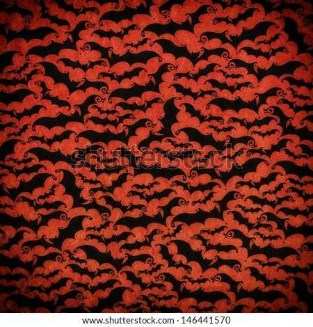 Hallowen vintage paper pattern