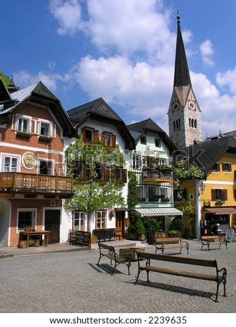 Hallstatt, a village in Salzkammergut, A UNESCO World Heritage Site