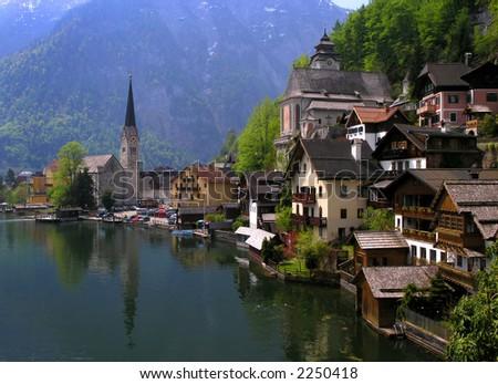 Hallstatt, a village in Salzkammergut, A UNESCO World Heritage Site