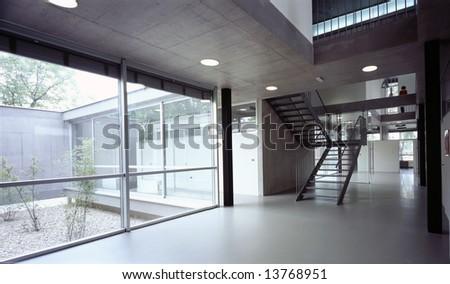 hallway in modern office Building