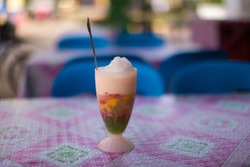 halo halo dessert a crushed ice drink refreshment