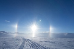 Halo Sun Light Arctic Winter