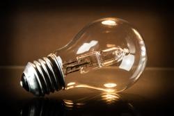 halogen bulb is lying