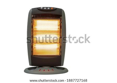 Halogen Electric Stove illuminated and radiating on white background Stock photo ©
