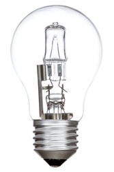 Halogen light bulb isolated on a white background