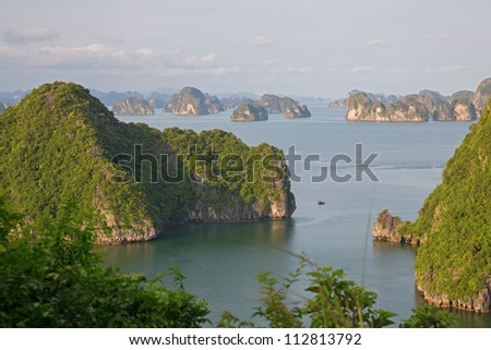 Halong Bay, view from titop island, Vietnam