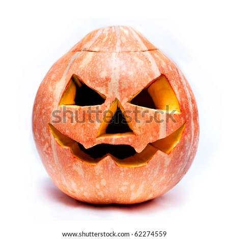 haloween pumpkin isolated over white