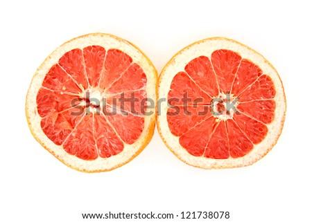 Halves grape fruit. #121738078