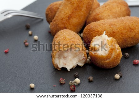 Ham and cheese croquettes newly developed