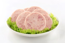 Ham Luncheon Meat With Lettuce