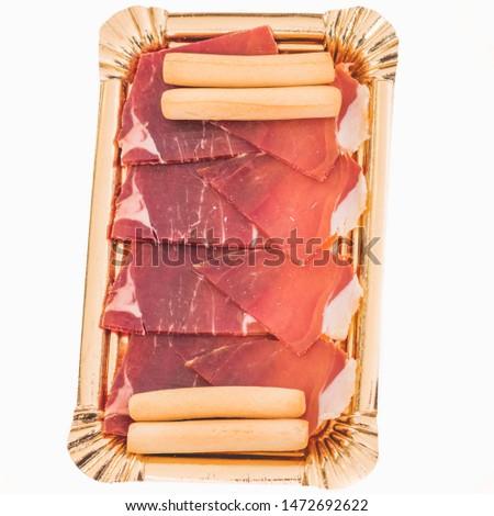 ham tray with delicatessen cheese
