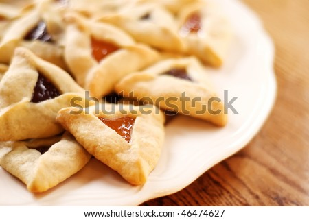 Hamantaschen cookies for Jewish festival of Purim