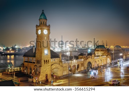 Hamburg at night, Germany #356615294