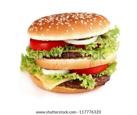 Hamburger in closeup