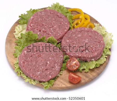 Hamburger of beef