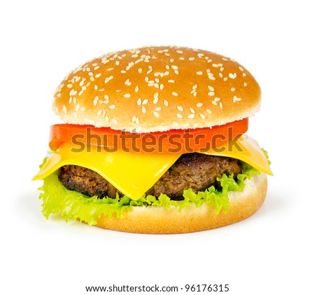 hamburger on a white background