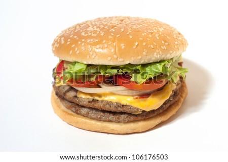Hamburger on white isolation background