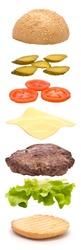 Hamburger Parts Vertical Explosion