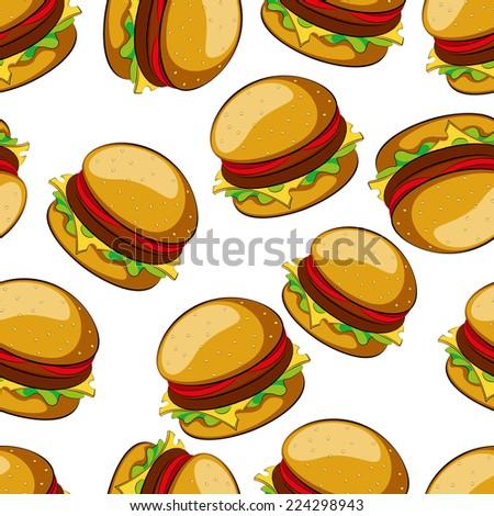 Hamburger seamless pattern  illustratio clip art