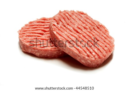 hamburger with clipping path