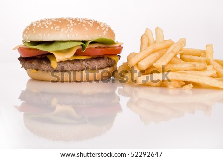 hamburger with salat tomato and chees