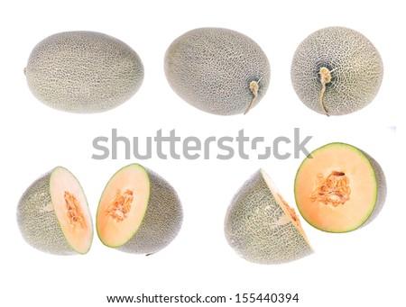 Hami melon on white background #155440394