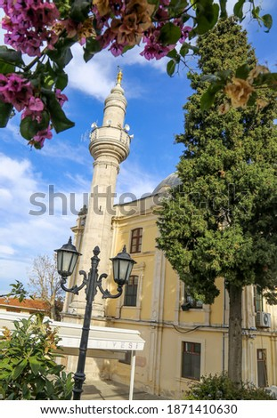 Hamidiye Mosque in Buyukada (Princes Islands), Istanbul,Turkey. The mosque was built in 1892-3, and is named for Sultan Abdül Hamit II (r. 1876-1909).  Photo stock ©