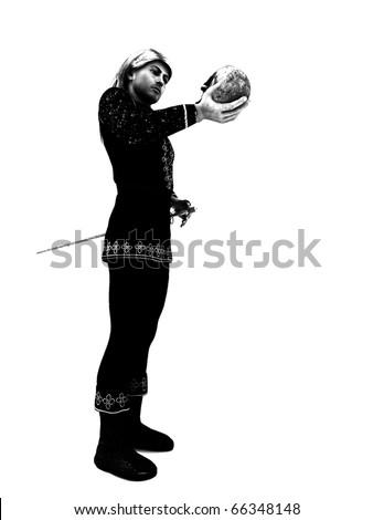 Hamlet Prince of Denmark high contrast B&W render