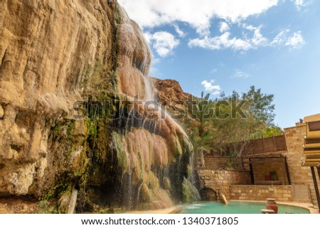 Hammamat Mai'n hot springs, Jordan. Hot springs are located in the mountains near the Dead sea Stock fotó ©