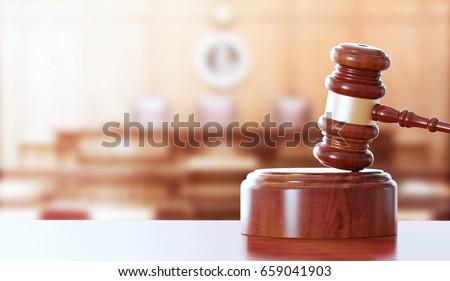 Hammer, gavel, justice, 3d render