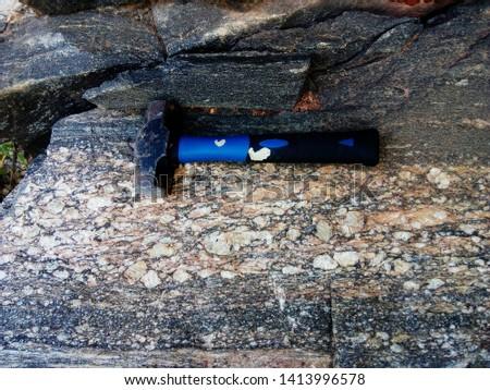 Hammer on the rock, Varre-sai RJ - Brazil Stock fotó ©