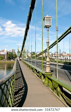 Hammersmith Bridge is a crossing of the River Thames in west London
